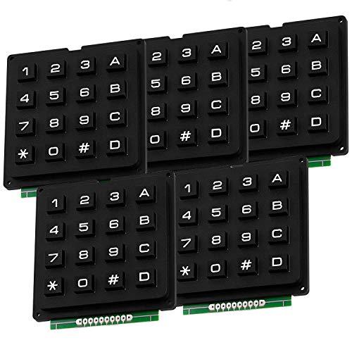 AZDelivery 5 x 4x4 Matrix Keypad Tastatur kompatibel mit Raspberry Pi inklusive eBook!