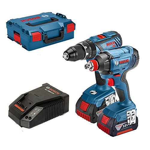 Bosch Professional GSB 18 V-28 + GDX 18 V-180 Combi Drill, Twin Pack