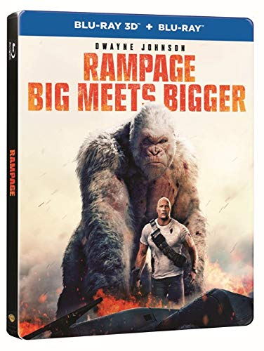 Rampage Limited Edition Steelbook 3D + 2D Blu Ray [Nordic]