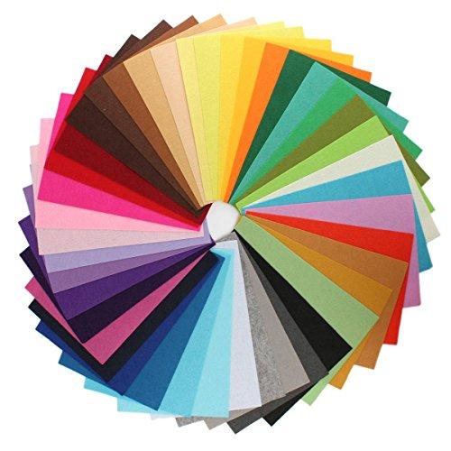 KING DO WAY 42 Colori Feltro in Fogli DIY Tessuto Poliestere per Cucire Mestieri Stoffa Patchwork 30cmX20cm