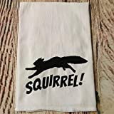Squirrel Dish Towel Funny Kitchen Dish Towels Washcloths Lampoon's Chef Bathroom Towel for Cooking Baking Hand, Face, Gym and Spa White 17x 35 Inch(35x75cm) Color: Squirrel