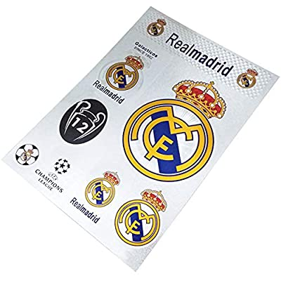 aiycome Football Club Soccer Team Emblem Sticker Waterproof Sticker for Wall, Laptop, Glass Doors, Car,etc (Real Madrid, 7.5 x10.6 in)