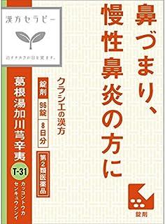 【第2類医薬品】「クラシエ」漢方葛根湯加川キュウ辛夷エキス錠 96錠