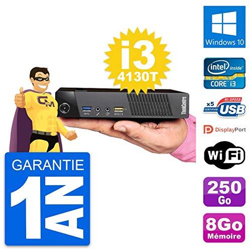 Lenovo Ultra Mini PC M93p Tiny i3-4130T RAM 8 GB Disco 250 GB Windows 10 WiFi (reacondicionado)