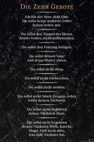 Die 10 Gebote - Poster - Schwarz + Ü-Poster