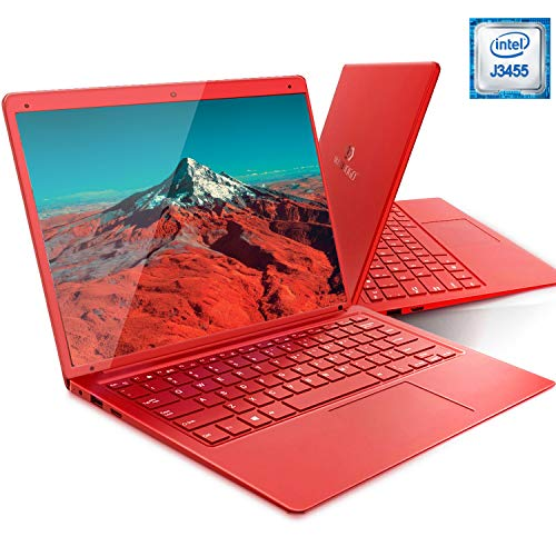DUODUOGO Laptop Windows 10 14.1 Inch Intel HD Graphics Laptop Intel Atom Z8350 1920x1080 Pixels Notebook, 6GB RAM 128GB ROM WiFi Dual Band Battery 5000mAh red red 14.1'',RAM 6Go