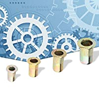 M3 / / M5 / M6リフナットセット、リフナット、炭素鋼4サイズのフランジナット、ナットを固定するための修復ツールファスナーの修理