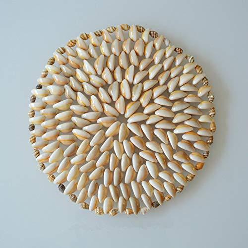 yitao Posavasos Mesa Mat Placemat para Mesa de Comedor Coaster Conchas de mar Accesorios de Cocina de Navidad 21cm Ivorywhite