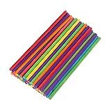 ULTNICE 50pcs bastoni in Legno Artigianali bastoni Colorati per Bambini per Modelli e sculture 20 x 0,5 cm (Multicolore)