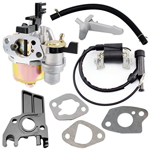 QAZAKY Carburador con junta de bobina de encendido, colector de admisión de manguera para GX160 5.5hp GX200 6.5hp GX 140 160 motores, generador, lavadora a presión, Kart, cortacésped, bomba de agua