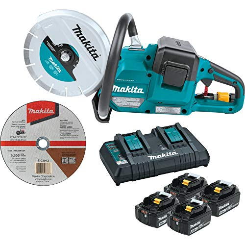 Makita XEC01PT1 18V X2 (36V) LXT Lithium-Ion Brushless Cordless 9  Power Cutter Kit, with AFT, Electric Brake, 4 Batteries (5.0 Ah)