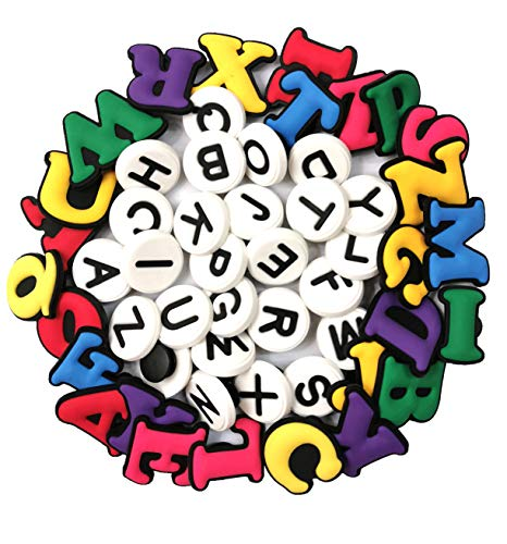 YAOYAO 52 piezas dos conjunto de letras zapato Jibbitz Charms ajuste Coc y Jibbitz bandas pulsera regalos