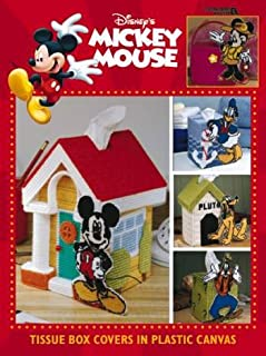 Mickey Mouse Tissue Box Covers in Plastic Canvas (Leisure Arts #1911)