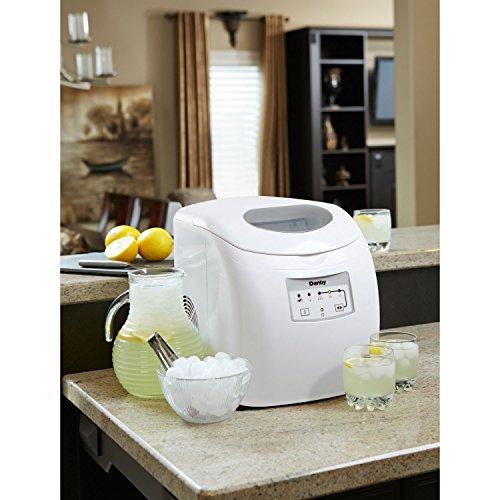 Danby DIM2500WDB Portable Ice Maker, 120 V, Steel, 2 lb, White