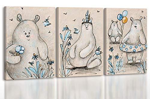 - Art Premium | pinturas acrílicas ositos de peluche | cuadros pintados a mano | pintura acrílica | lienzo | ejemplar único | gris | KS 003