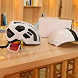 Casco Gafas casco de montar la bicicleta del casco casco de seguridad integrada transpirable...