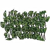 Valla De Hiedra Artificial, Valla De Planta Artificial para Jardín, Barandilla Telescópica, Pantalla De Privacidad con Protección UV, para Decoración del Hogar En El Patio Trasero, Paredes Verdes