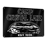 Lkbihl Camp Crystal Lake Logo Customized and Personalized, Single Sided, Aluminum, Sign 11.8 * 7.9 in 1 Pack