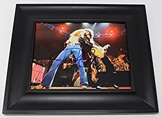 Robert Plant Led Zeppelin Physical Graffiti Signed Autographed 8x10 Glossy Photo Gallery Framed Loa