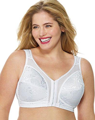 Playtex Women's 18 Hour Front-Close Wirefree Bra w/Flex Back US4695, White, 38C