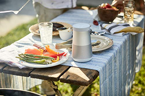 bose soundlink revolve + portable & long-lasting bluetooth 360 speaker at picnic