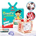 Kipod CreaTV – DIY Story Making Set for Kids to Create Movies & Comics– Unique Kids Crafts Kit for Boys and Girls Ages 4-12 Years Old – 5 Premade Story Rolls – Montessori-Inspired Drawing Kit Toys