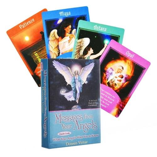 44pcs Oracle Tarot Tarjetas Mensajes De Tus Ángeles, Futuro Telling Card Set, Fate Forecasting Card Set Excelentemente, Tarot Card Game, Oracle Card for Teens Fun Table Cards Games