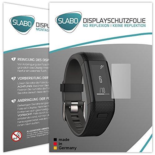 Slabo 2 x Bildschirmschutzfolie für Garmin Vívosmart HR+ Bildschirmschutz Schutzfolie Folie No Reflexion | Keine Reflektion MATT