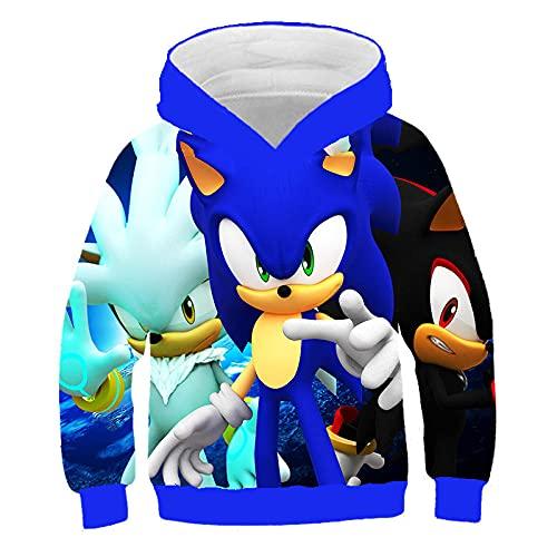 huanglinHG Anime Sonic 3D Jerseys para Niños Sudaderas Casuales De Manga Larga para Niños Y Niñas Cool Sports Hoodies-11084_160