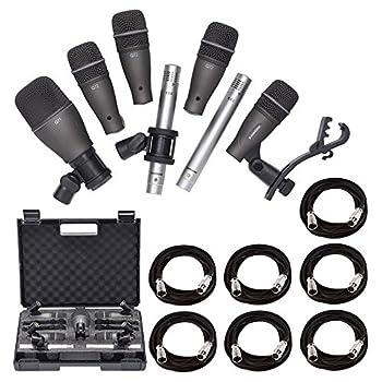 Samson DK707 Drum Microphone Kit 7 Piece + 7X Microphone XLR Cable Bulk + Value Recording Bundle