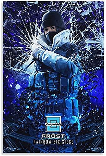 Lienzo De Impresión 60x90cm Sin Marco Rainbow Six Siege Frost- Decoración de Dormitorio Familiar Moderno con impresión de Imagen