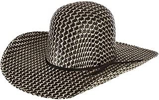 RODEO KING Mens Midnight Open Crown 4 1/2 Brim Straw Cowboy Hat