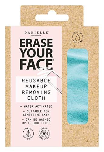 Danielle Creations - Panno per rimuovere il viso, ecologico, riutilizzabile, colore: Blu acqua