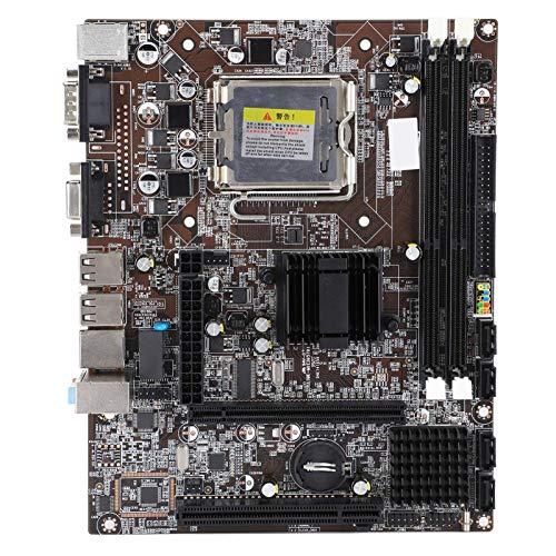 PUSOKEI Placa Base para computadora de Escritorio G41, Placa Base para computadora LGA 775 DDR3, Interfaz PCI-Ex16 / PCI/USB/SATA/Ranura de Puerto Paralelo IDE/Audio Integrado de 6 Canales para Intel