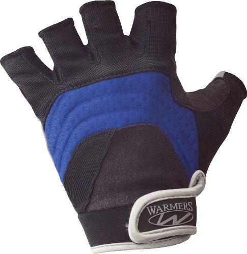 Warmers (D3245) Barnacle Half Finger Paddling Glove (Black/Blue, Large)