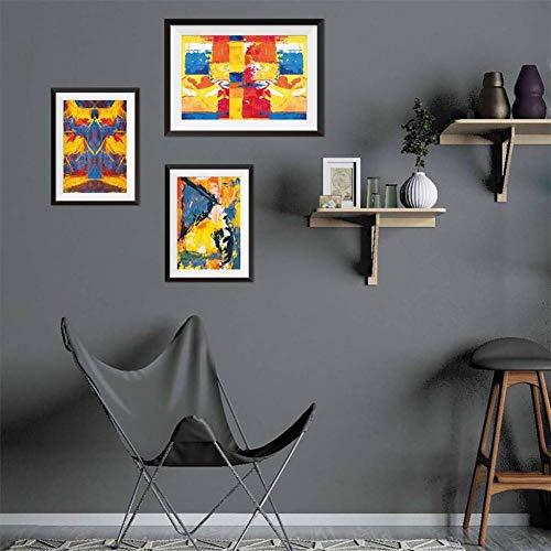 HYYDHD muursticker posters muur valse fotos kopiëren 3D nep foto frame 3 paar olie schilderij huis Decoratio A