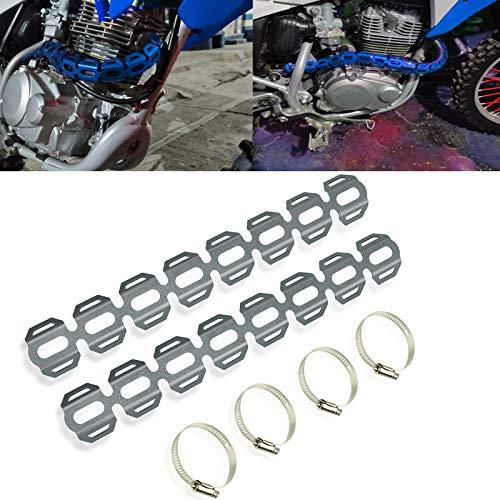 Motociclo Coperchio protezioni scudo termico tubo marmitta di scarico per B-M-W F650GS 2008-2020 F700GS F800GS ALL YEAR R1200GS LC 2013-2020 R1200GS LC ADVENTURE 2014-2020(Titanio)