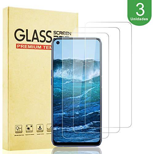 [3 Unidades] Protector de Pantalla para Realme 6 Vidrio Cristal Templado [9H Dureza] [Resistente a Arañazos] [Alta Definición y Sensibilidad] [Cobertura máxima] [Sin Burbujas] [Instalación más Fácil]
