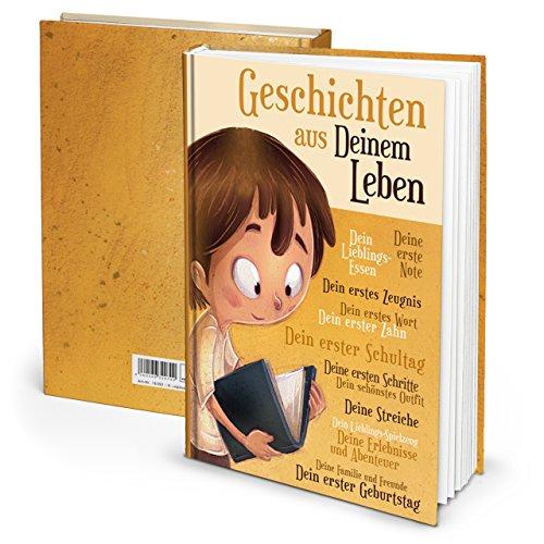 Logbuch-Verlag Tagebuch Kinder Geschenk Kommunion Geburtstag Eltern Geburt leer DIN A4 Eigene Geschichte Junge Mädchen Taufe