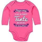 Shirtracer Sprüche Baby - Ich Habe eine verrückte Tante Lila - 12/18 Monate - Fuchsia - Patentante - BZ30 - Baby Body Langarm