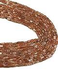 LOVEKUSH LKBEADS - Ladrillo liso de piedra solar, 4,5 x 6,5 mm a 5 x 8,5 mm, hilo de 14,5 pulgadas de largo, calidad AA, color rojo musgo de cuarzo ladrillo Código HIGH-51441