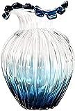 Jarrones modernos de vidrio de vidrio de vidrio moderno, moderno, minimalista, minimalista, arreglo de flores, jarrones de mesa para decoración regalo para el jarrón del día de la madre (Color: BlueG