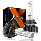 SEALIGHT 9005 LED Headlight Bulb, HB3 LED Bulb, High Beam, Fog Light, Compact Fanless Design, 6500 Lumens, 6000K Cool White, 12 CSP Chips