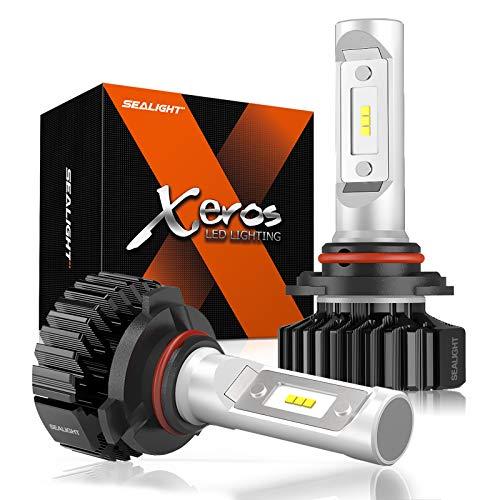 SEALIGHT 9006 LED Headlight Bulb, HB4 LED Bulb, Low Beam, Fog Light, Compact Fanless Design, 6500 Lumens, 6000K Cool White, 12 CSP Chips