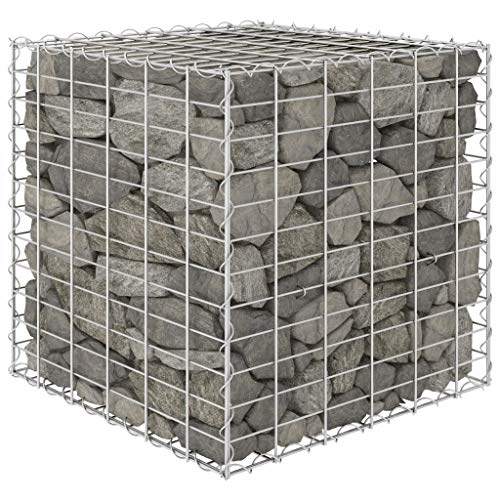 Unfade Memory Gabion Stone Baskets Planter Cages Steel Wire Raised Bed for Garden Edging Decoration (23.6'x23.6'x23.6')