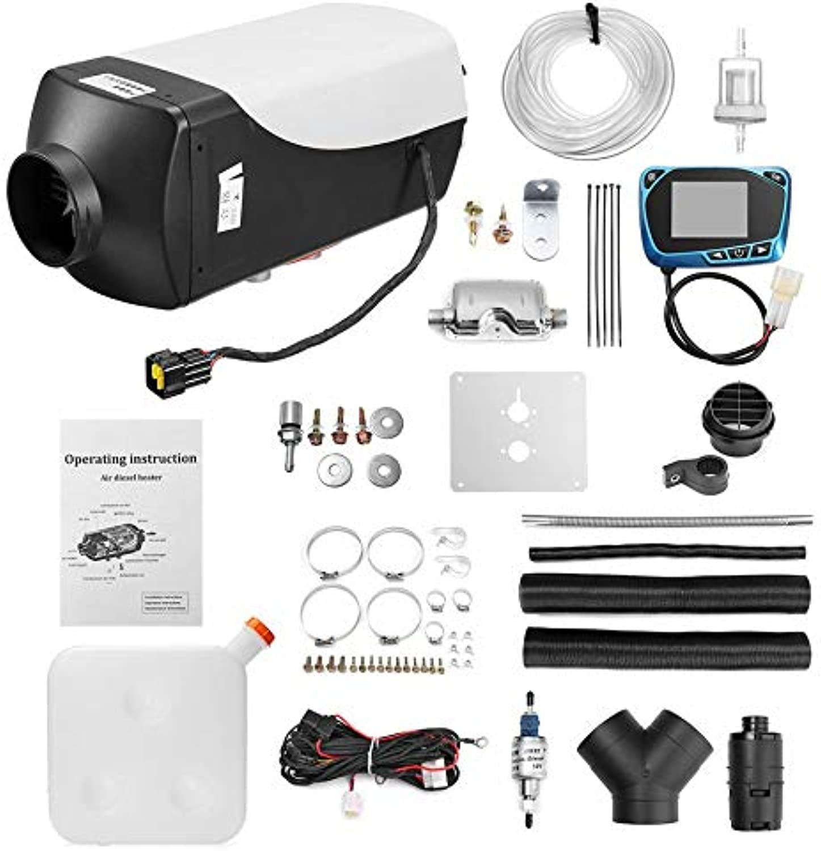 WEINANA 8kW   12V Single LCD mit Fernbedienung Schalldmpfer Diesel Lufterhitzer Muti-Farbe Essential Zubehr