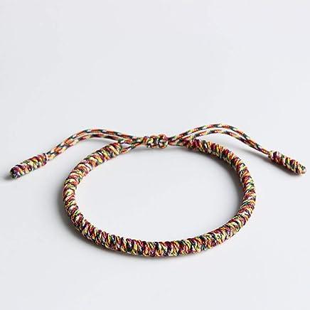 3dc10339ee TALE Lucky Rope Bracelet Tibetan Buddhist Handmade Knots - 7 colors Holy  light of buddha