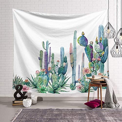 KHKJ Tapiz Creativo de vegetación de Verano para Colgar en la Pared, Tapiz de Cactus Grande, Manta de Tela, Tapiz Decorativo A2 150x130cm