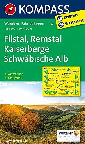 KOMPASS Wanderkarte Filstal, Remstal, Kaiserberge, Schwäbische Alb: Wanderkarte mit Aktiv Guide und Radwegen. GPS-genau.1:50000 (KOMPASS-Wanderkarten, Band 777)