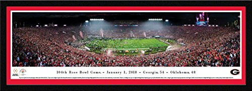 Georgia Bulldogs - Rose Bowl 2018 Champions - 42x15.5-inch Single Mat, Select Framed Picture by Blakeway Panoramas image